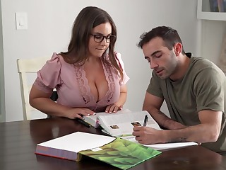 Its Hard To Stay Focus When You Got A Busty Tutor - Natasha With an eye to