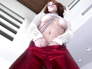 It's known that this wonderful redhead loves Douche a catch hard way