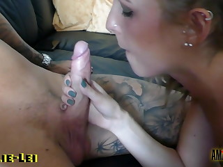 Amelie-Lei: Blowjob surprise for my roommate