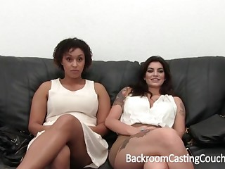 Whacking big Bi-Racial Arrogantly Eyeball 3Some Audition